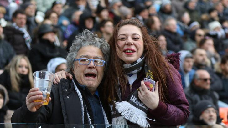 i tifosi di Udinese Roma